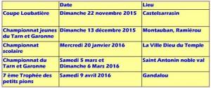 Calendrier 2015-2016